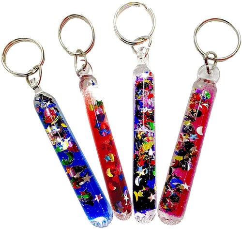 Glitter Wand Key Chain