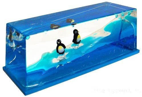Wave Paperweight Penguins