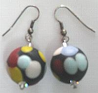 Athena Mosaic Bead Drop Earrings