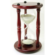 30 Minute Sand Timer - Yellow Sand in Cherry Stand