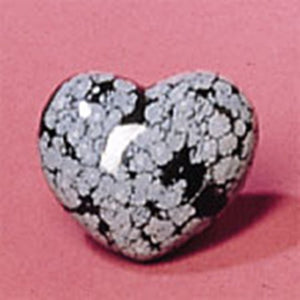 Heart Shaped Snowflake Obsidian