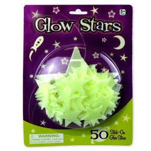 Glow Mini Stars - 50 Glow in Dark Stars