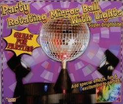 Rotating Mirror Ball with Light