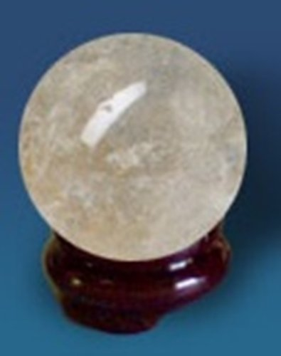 Universal Energy Quartz Crystal Sphere Orb Ball with Stand