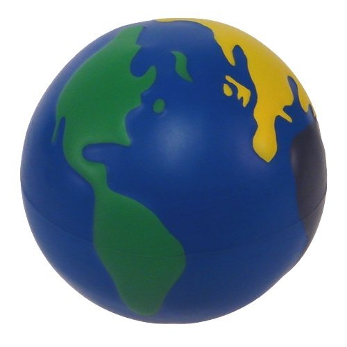 Earth Squeeze Stress Ball Multicolored - 3 Pack
