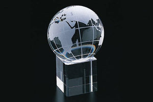 Crystal Globe with Crystal Base