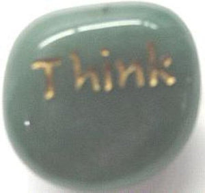 LOSTMOUN Engarved Stone: Think
