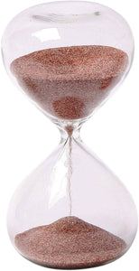 4-Inch 5-Minute Glass Sand Timer with Deep Red Sand