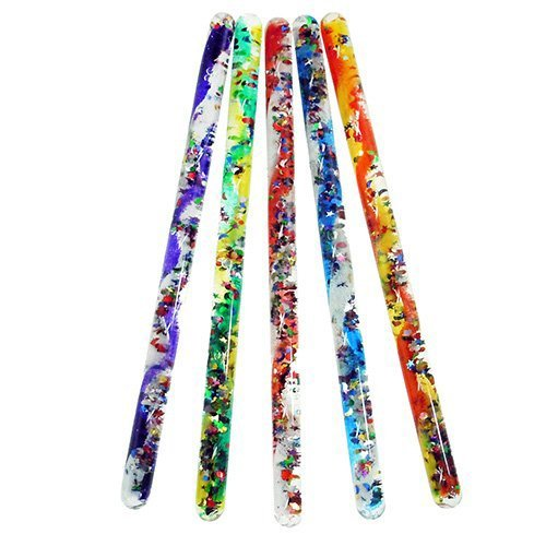 Toysmith Jumbo Spiral Glitter Wand (Assorted Colors) by Toysmith
