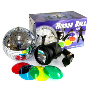 Mirror Ball Kit with Strobe Light