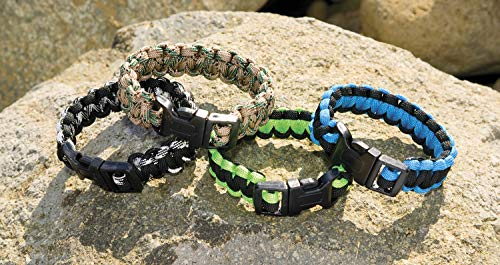 Paracord Survival Bracelet with Whistle 3 Pack