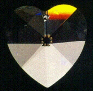 Faceted heart-18mmClear