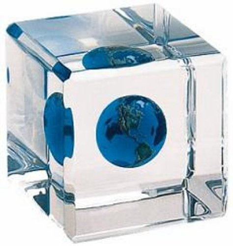 Earth Marble in a Cube