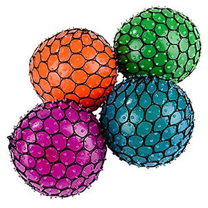 Neon Mesh Squish Ball  - 3 Pack