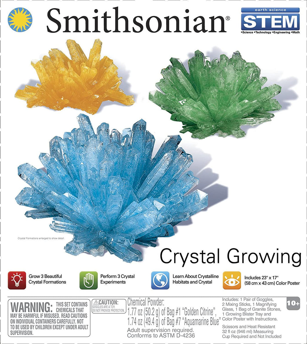 Smithsonian Crystal Growing Gem Kit