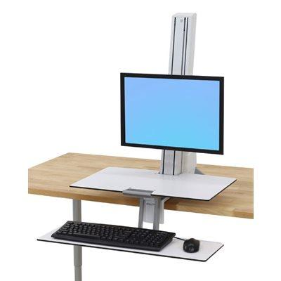 Workfit-S with worksurface + for single screen