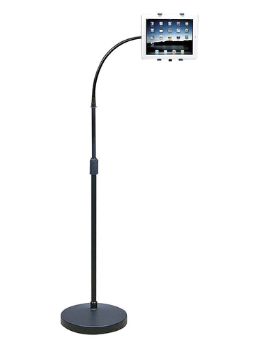 Gooseneck floor stand for tablet