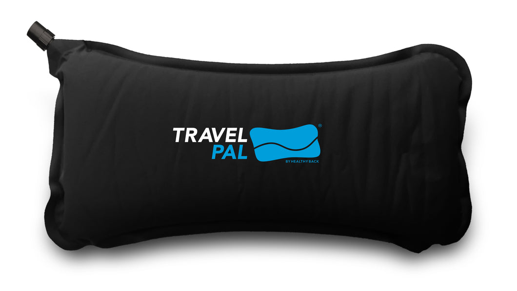 Memory foam auto-inflating back pillow