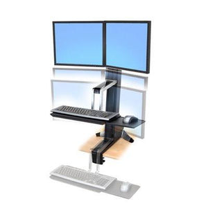 Workfit-S dual monitor sit-stand workstation