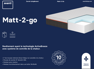Matt-2-Go memory foam mattress