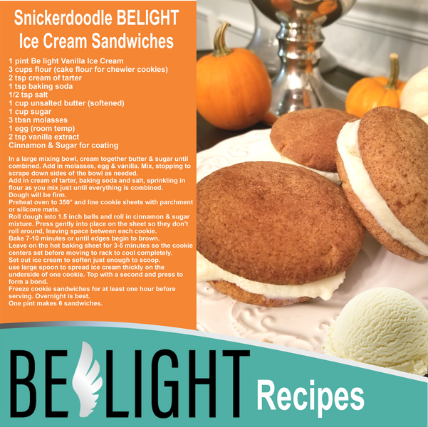 Snickerdoodle Belight Ice Cream sandwitches