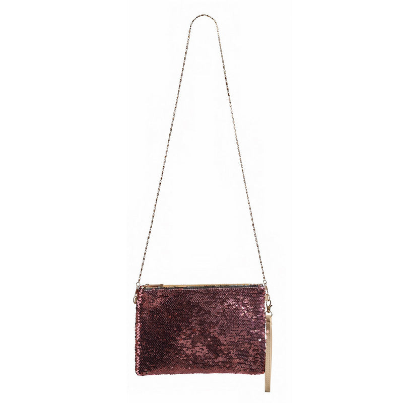 Two-Tone Sequin Crossbody