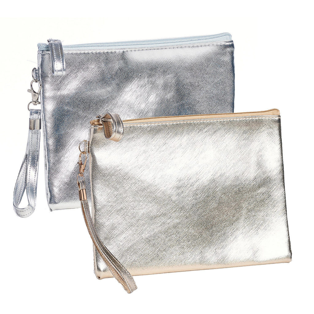 Metallic Crosshatch Clutch
