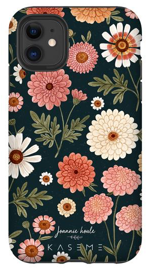 KaseMe Étui ''Tough''  Chrysanthemums by Joannie Houle pour iPhone