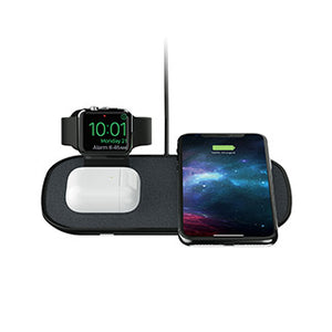 Mophie base de charge sans fil 3-en-1 compatible avec Apple Watch + AirPods, noire