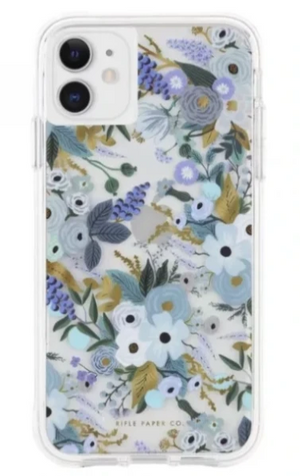 Case-Mate Riffle Paper étui Garden Party Blue pour iPhone