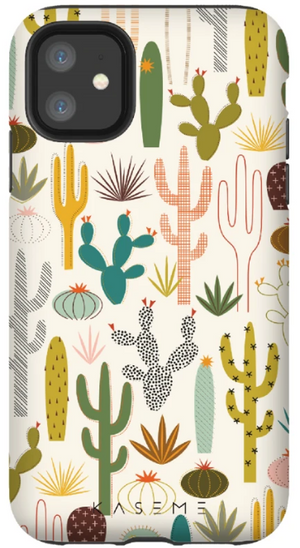 KaseMe Étui ''Tough'' Desert Garden par Kate Rhees pour iPhone