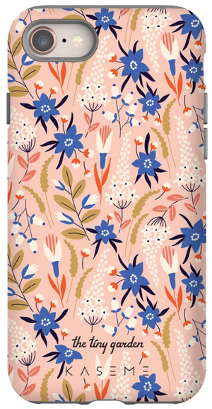 KaseMe Étui ''Tough'' Vintage Floral par The Tiny Garden pour iPhone