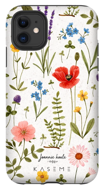 KaseMe Étui ''Tough'' Wild Flowers par Joannie Houle pour iPhone