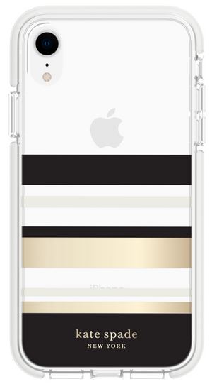 Kate Spade étui Défensive Park Stripe Clear pour iPhone