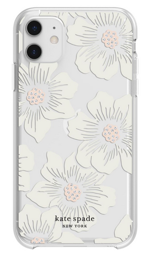 Kate Spade étui Hollyhock Floral Clear pour iPhone