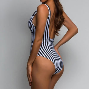 Regina Striped Swimsuit