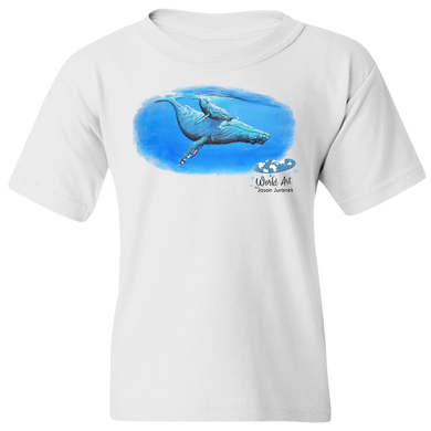 EZ-On BaBeez™ - Mom and Baby Collection - Marine Life Series, Humpback Whales - Youth T-Shirt