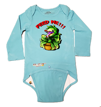 Load image into Gallery viewer, EZ-On BaBeez™ Halloween Collection - Feed Me!!! - Baby Bodysuit - Long Sleeve