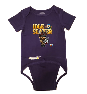 EZ-On BaBeez™ - WarePlay - Idle Slayer Leif - Baby Bodysuit, Short Sleeve