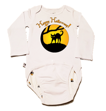 Load image into Gallery viewer, EZ-On BaBeez™ Halloween Collection - Black Cat - Baby Bodysuit - Long Sleeve