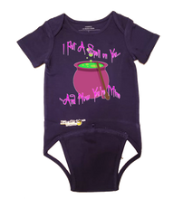 Load image into Gallery viewer, EZ-On BaBeez™ Halloween Collection - I Put a Spell on You - Baby Bodysuit - Short Sleeve