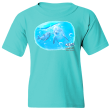 Load image into Gallery viewer, EZ-On BaBeez™ T-Shirt - Mom and Baby Collection - Marine Life Series, Dolphins - Youth Tee