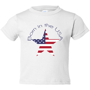 EZ-On BaBeez™ - Americana Collection - Born in the USA - Toddler T-Shirt
