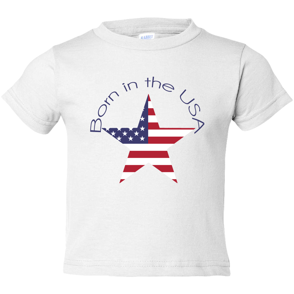 EZ-On BaBeez™ T-Shirt - Americana Collection - Born in the USA - Toddler Tee
