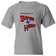 "Load image into Gallery viewer, ""My Grandma is a Super Hero"" - EMT, Youth Tee"