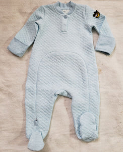 EZ-On BaBeez™ - Baby Romper, Long Sleeves with Footies and Baby Beanie