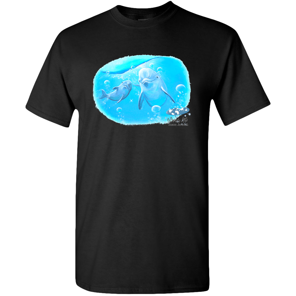 EZ-On BaBeez™ - Mom and Baby Collection - Marine Life Series, Dolphins - Adult Unisex Standard T-Shirt