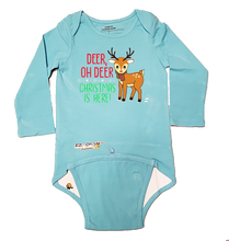 "Load image into Gallery viewer, EZ-On BaBeez™ - Holiday - Christmas - ""Deer Oh Deer"" - Baby Bodysuit, Long Sleeve"