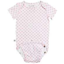 Load image into Gallery viewer, EZ-On BaBeez™ - Spring & Summer - Hearts - on White - Baby Bodysuit
