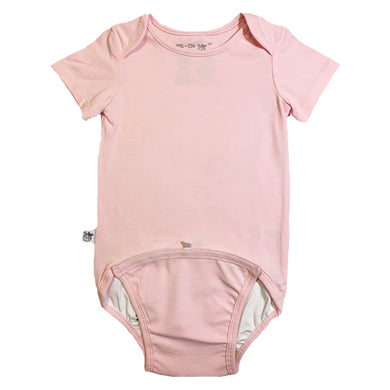 EZ-On BaBeez™ Baby Bodysuit - Pink Blush - Short Sleeve